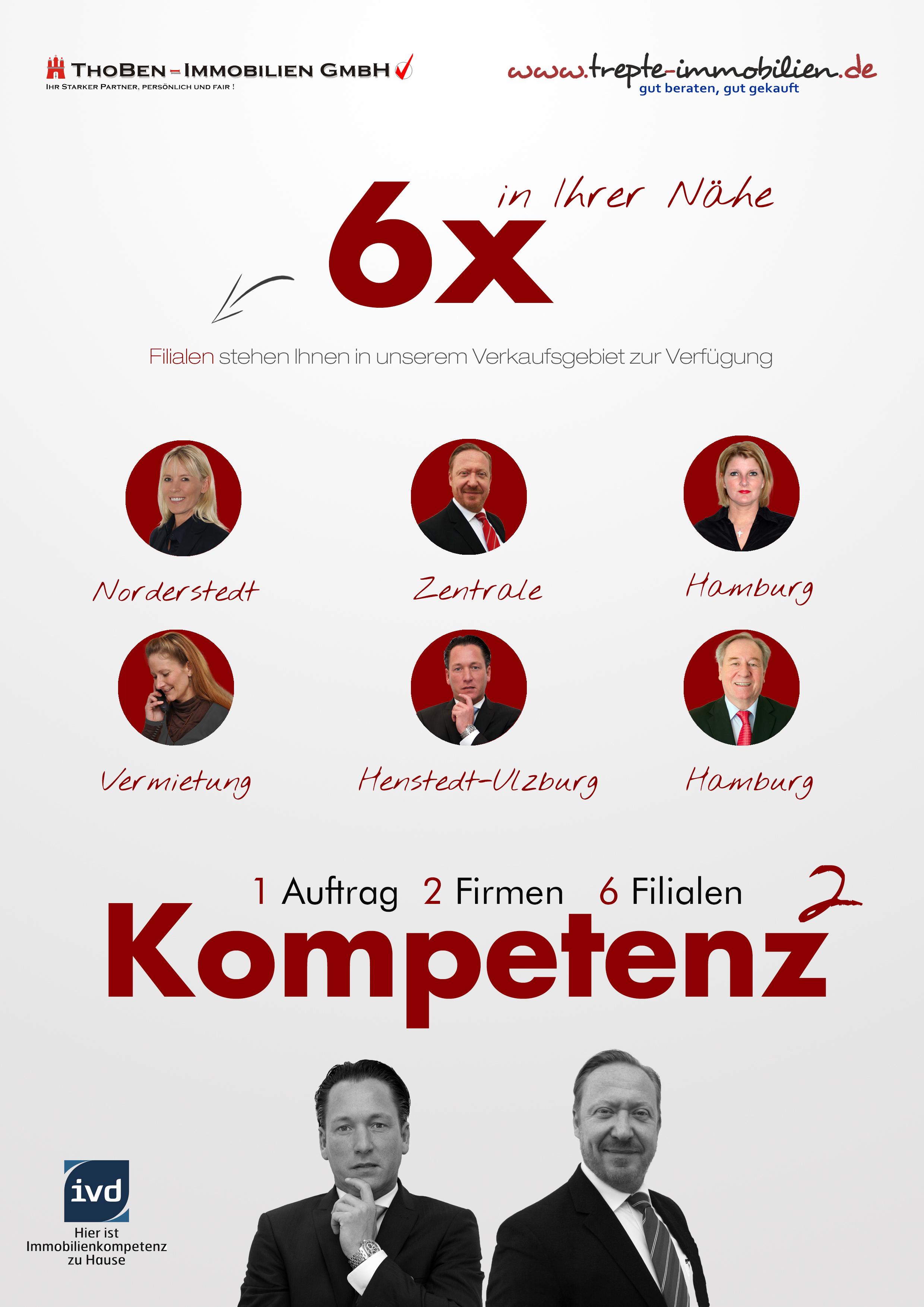 """Michael Lucas Gestaltung Werbezettel """"2 Firmen für 1 Auftrag"""""""