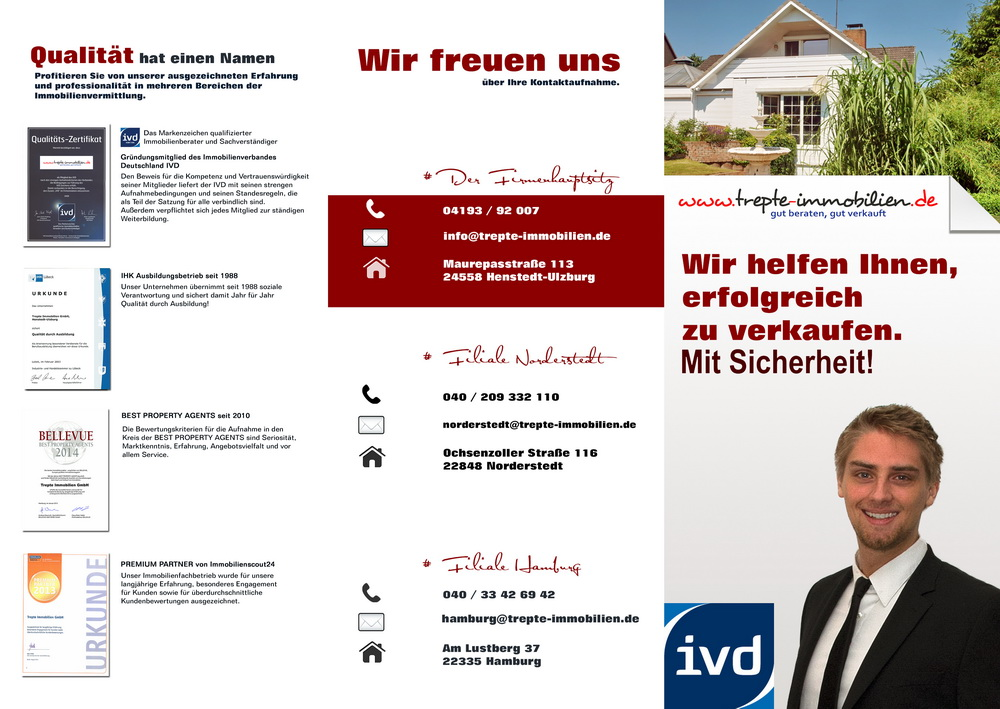 Michael Lucas Trepte-Immobilien GmbH Flyer